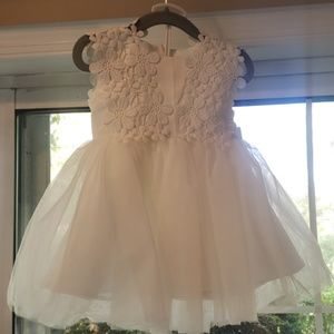 Baby girl flower lace mesh sleeveless party dress